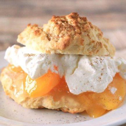 Peach Chai Shortcake