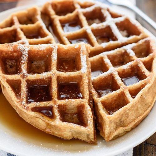 Apple Sauce Whole Wheat Waffles