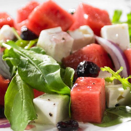 Watermelon, Feta and Arugula Salad
