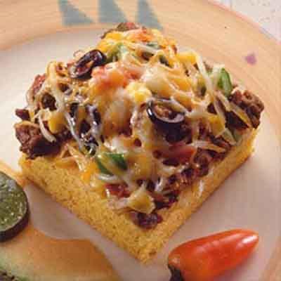 Cheesy Mexican Cornbread Squares