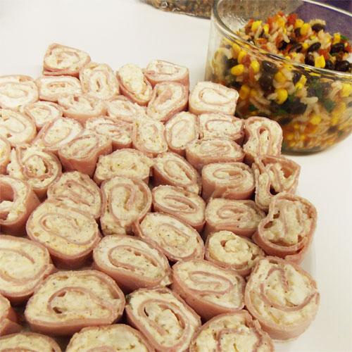 Ham Rice Roll-Ups