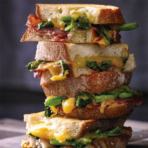 Grilled Cheese with Coppa and Broccoli Rabe