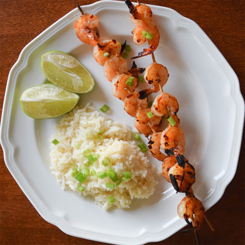 Ginger-Lime Marinated Shrimp Skewers