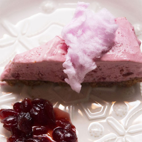 Frozen Cranberry Raspberry Cheesecake