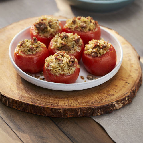 Italian-Style Sausage and Rice Stuffed Tomatoes