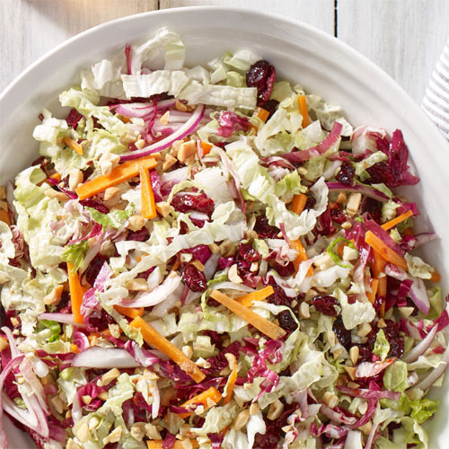 Napa Cabbage Craisins Dried Cranberries Slaw