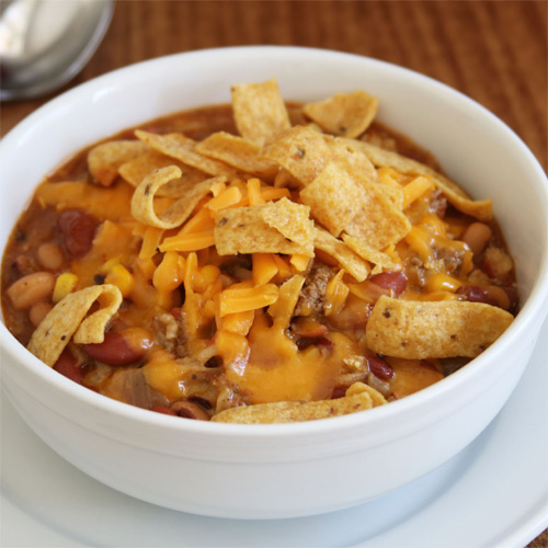 Taco Soup with Rice and Beans