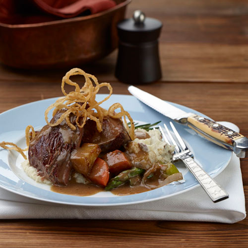 Serve up this incredibly tender Yankee Pot Roast by Founding Farmers Restaurant