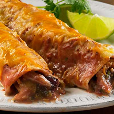 Sweet and Saucy Chicken Enchiladas