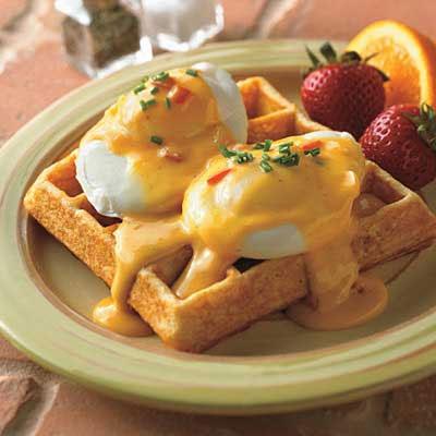 Southwestern Waffle Benedict for Breakfast or Brunch