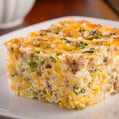 Rice and Sausage Breakfast Casserole