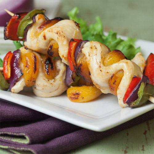 Savory Apricot Chicken Kabobs