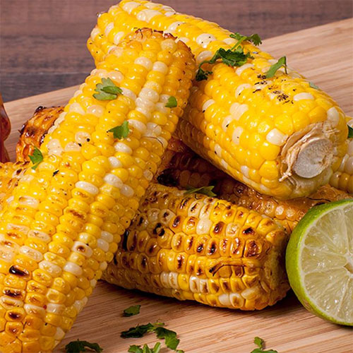 Grilled Corn with Sriracha Honey Butter
