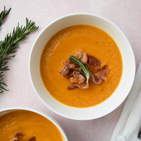 How to Make Sweet Potato Soup with Crispy Prosciutto