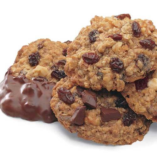 Chocolate Chunk Raisin Oatmeal Cookies