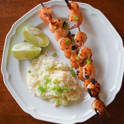 Ginger-Lime Marinated Shrimp Skewers