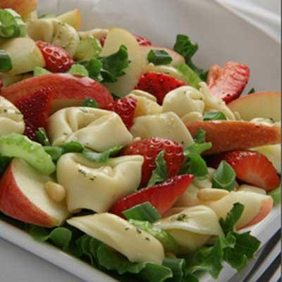 Apple Tortellini Salad with Strawberries