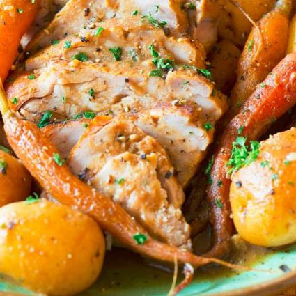 Slow Cooker Pork Loin with Vegetables