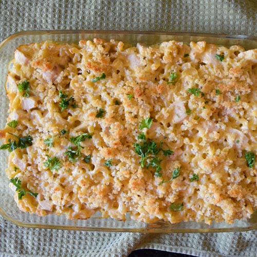Easy Bake Mac n' Cheese with Chicken