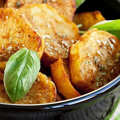 Orange and Ginger Glazed Sweet Potatoes