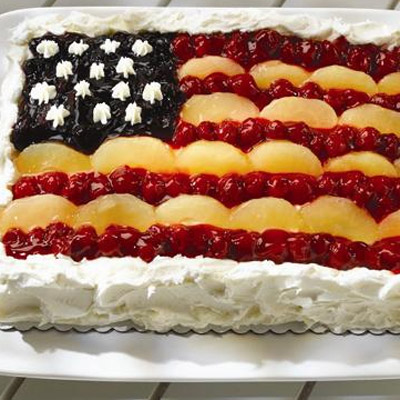 Celebrate the Red, White and Blue with this American Flag Cake