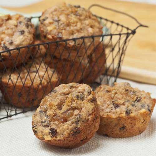Oat, Apple & Raisin Muffins